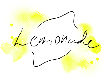 Lemonade Minimalist typography design illustration