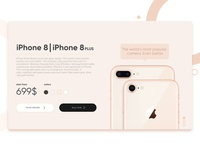 iPhone 8 Landing page