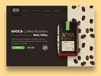 Avoca Coffee Product Page Concept