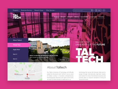 Taltech University Website