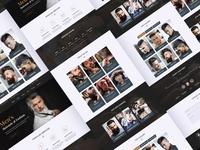 Men's Haircut Salon Website Design