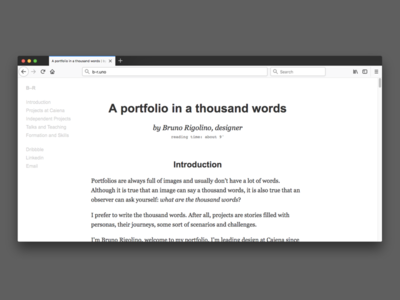 Portfolio in words
