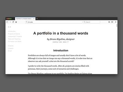 Portfolio in words minimalist simple arial georgia portfolio