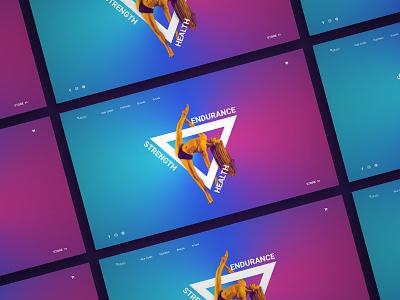 Web Concept - Vitafy violett purple blue athlete fitness interface ux ui concept webdesign web design landing page