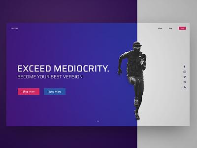 [ UI / UX ] Web Concept - Exceed light blue orange blue athlete fitness interface ux ui concept webdesign web design landing page