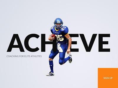 [ UI / UX ] Web Concept - Achieve landing page web design webdesign concept ui ux interface fitness athlete orange blue