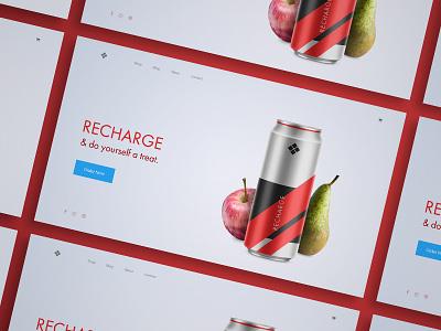 [ UI / UX ] Web Concept - Recharge blue red athlete fitness interface ux ui concept webdesign web design landing page