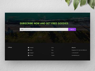 [ UI / UX ] Wheys - Footer landing page web design webdesign concept ui ux interface sign up footer fitness dark