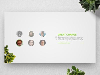 [ UI / UX ] Wheys - Testimonials landing page web design webdesign concept ui ux interface testimonials testimonial fitness light