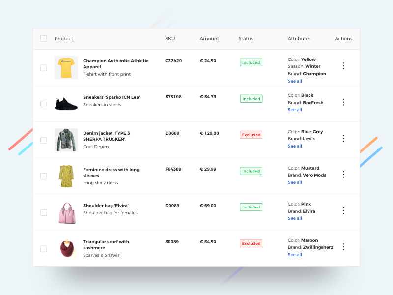inventory list ecommerce backend by mj dribbble dribbble