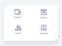 Icons exploration for a business portal