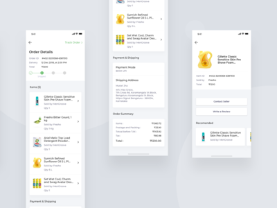 Grocery Delivery App Screens