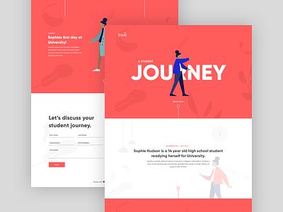 Squiz: Student Journey UI education website education illustration website tech web ui ux product design design
