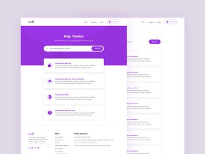 Help Hub Template education website cms dashboad tech web ui ux product design design