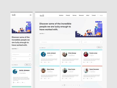 Squiz Talent Celebration cms development dashboad cms website web tech ux ui product design design