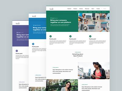 Squiz Product Page Templates production platform digital product page suite product website app cms web tech ux ui product design design
