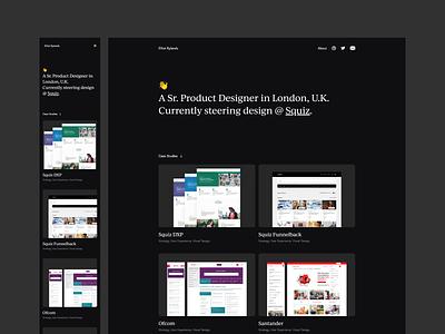 Updated Portolio product page cms app website web tech ui ux product design design