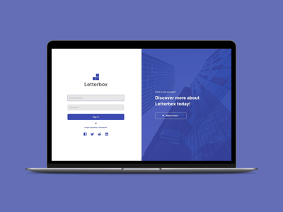Daily UI Challenge #01 - Sign In dailyui 001 dailyui dashboad cms website web tech product design design ux ui