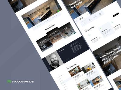 Woodwards Construction webflow website design web design construction web website tech product design design ux ui