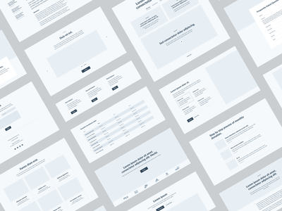 Charity Component List (Wireframes) web website tech product design design ux ui