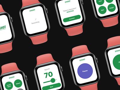 Spinshot Apple Watch Control tech product design design ux ui