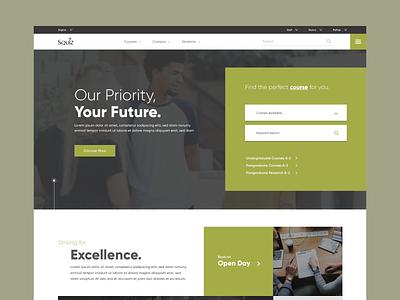 Squiz Matrix University Template education website education tech dashboard ui website ui ux web product design design