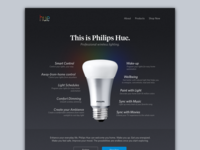 Philips Hue Landing