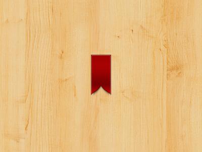 Ribbon blood sweat tears ribbon wood