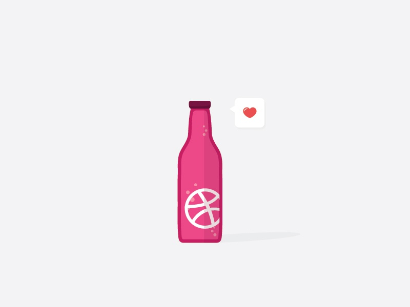 Like an ice cold drink in the summer illustration vector shot rebound pop fizzy dribbble playoff love pink bottle stickermule