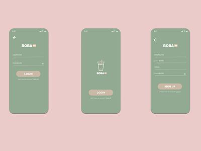 Boba Tea App minimal app design branding ux ui