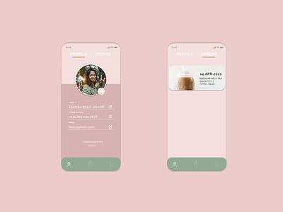 Boba Tea App ux ui ux uiux ui design ui design minimal branding app