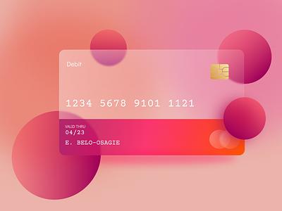 Debit Card finance card design glassmorphism glass effect fintech credit card creditcard debit card