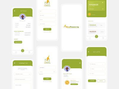 BuyPower NG - Redesign design uiux electricity uiuxdesign app design