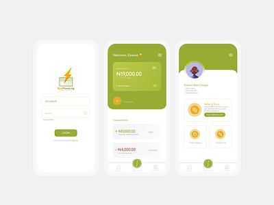BuyPower App Redesign - Screens glass effect glassmorphism app redesign uiuxdesign app design uiux