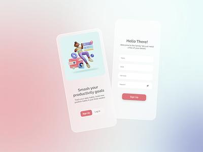 Daily UI :: 001 dailyui001 app design sign up uidesign ui dailyui