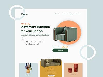 Daily UI :: 003 daily ui dailyuichallenge web design furniture landing page furniture landing page dailyui