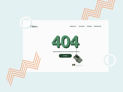 Daily UI :: 008 branding uiux web design ui design 008 dailyui008 404error 404 error error page dailyui