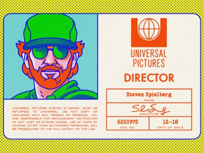 Spielberg's Auto-biopic spielberg movie director steven spielberg typography movies pop art design texture halftone editorial illustration editorial illustration
