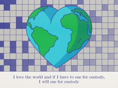 Stand On Your Own Head love earth day heart earth globe pop art texture halftone editorial illustration editorial illustration