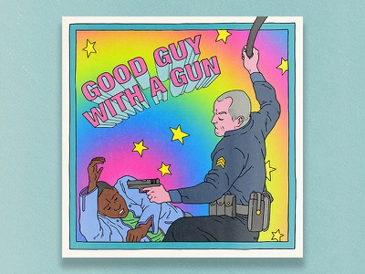Good Guys... violence police brutality racism social justice guns police cops editorial illustration illustration editorial