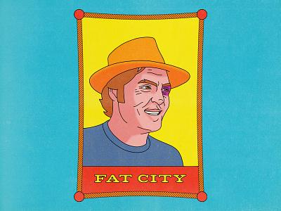 Fat City john huston fat city movies pop art design punk texture halftone editorial illustration editorial illustration