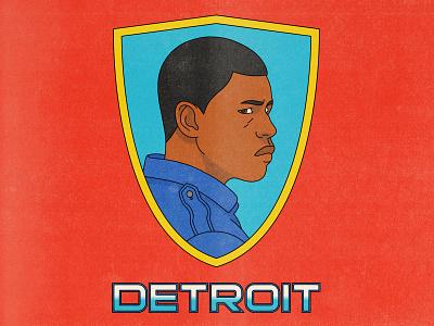 Detroit john boyega detroit texture halftone editorial illustration editorial illustration