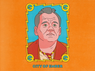 City Of Ember bill murray city of ember typography movies design texture halftone editorial editorial illustration illustration