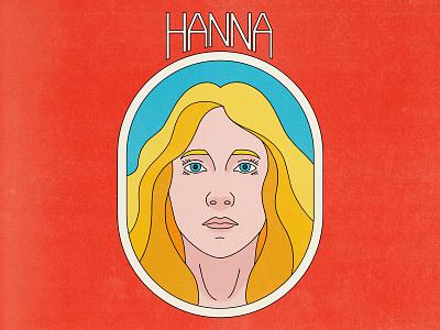 Hanna typography punk pop art design texture halftone editorial illustration editorial illustration movies hanna