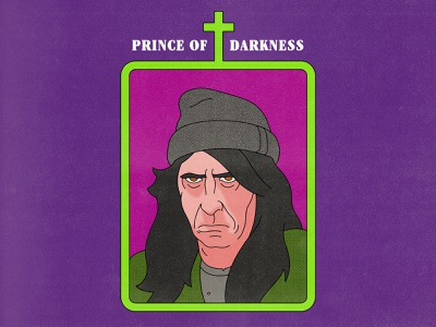 Prince of Darkness prince of darkness horror typography movies pop art design texture halftone editorial illustration editorial illustration