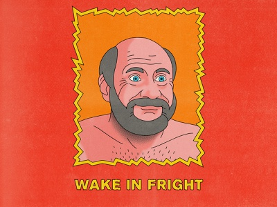 Wake In Fright typography movies pop art design texture halftone editorial illustration editorial illustration