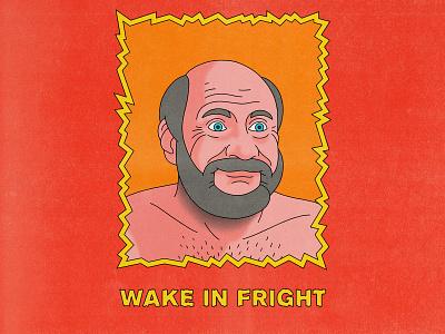 Wake In Fright typography movies pop art design texture halftone editorial illustration editorial illustration