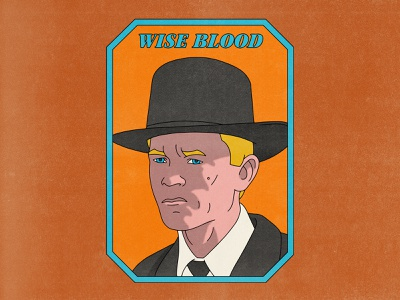 Wise Blood typography movies pop art design texture halftone editorial illustration editorial illustration