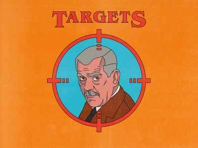 Targets typography movies pop art design texture halftone editorial illustration editorial illustration