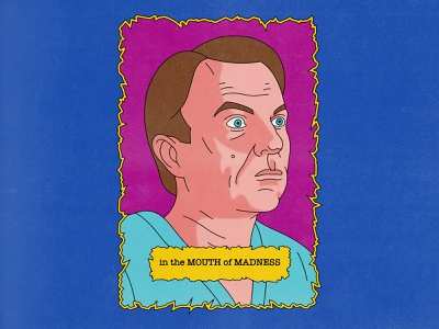 Mouth Of Madness typography movies pop art design texture halftone editorial illustration editorial illustration